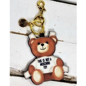 """Moschino Couture """"Not a Toy"""" Bag Charm/Keychain"""